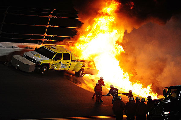 Daytona 500 fire