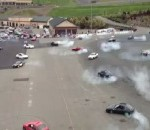 World Record Attempt for Most Cars Performing Simultaneous Burnouts