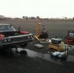 Updated: Parking Lot Engine Swap! Snow Flies…Profanities to Follow?