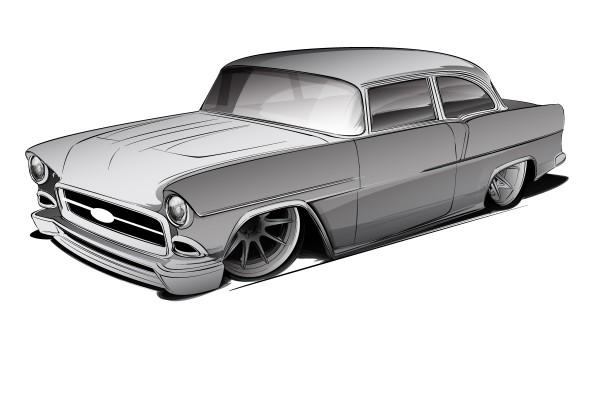 55 BW rendering