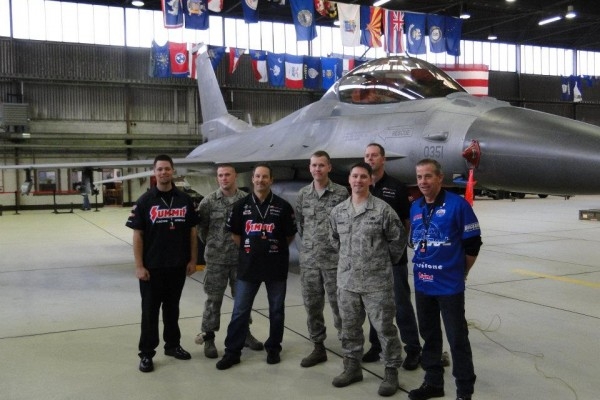 Race team at Ramstein AFB Germany