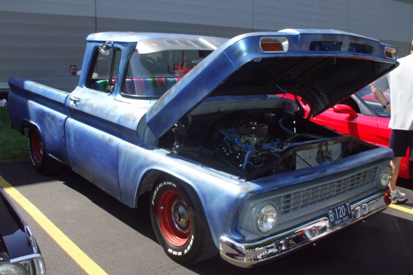 Blue 1963 Chevy truck