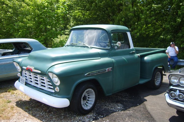 Green Chevy Apache pickup
