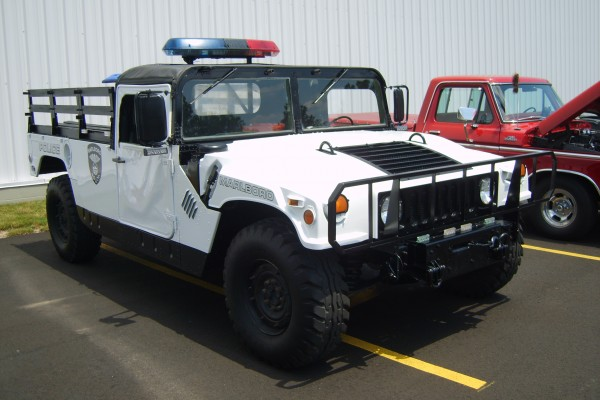 White police Hummer