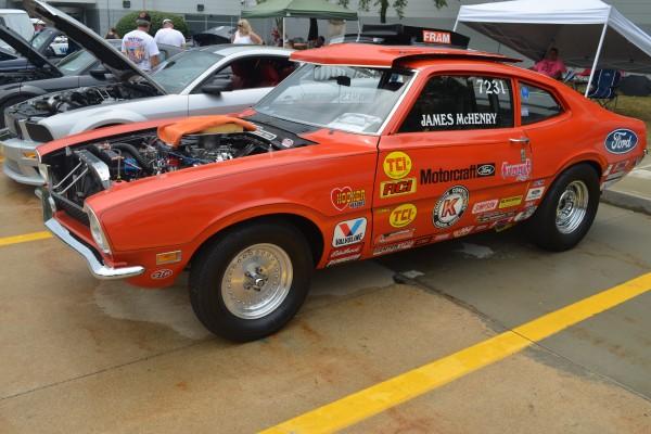 Orange Ford racecar