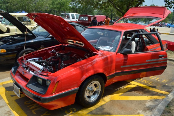 Red Ford Mustang Foxbody