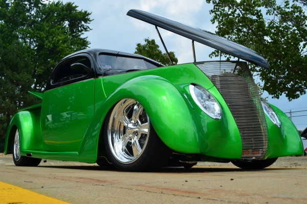 Green Ford hot rod