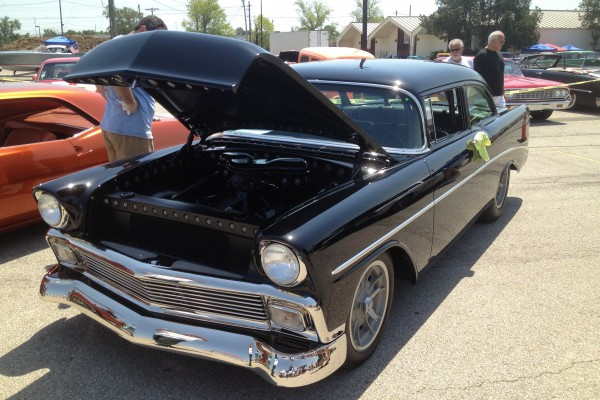 Black 1955 Chevy