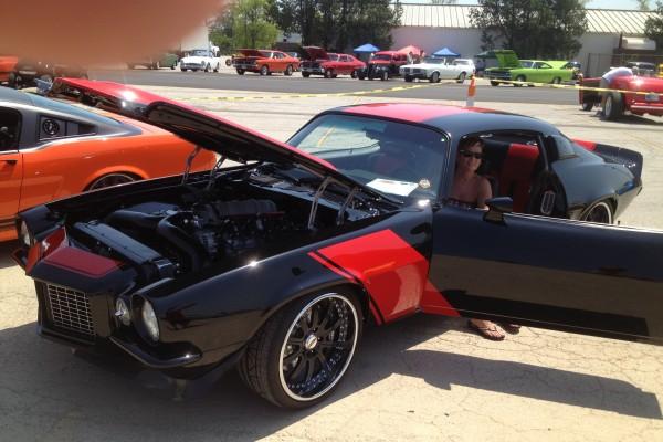 Black and red Camaro at Goodguys