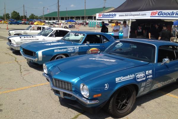 Blue Camaro at Goodguys