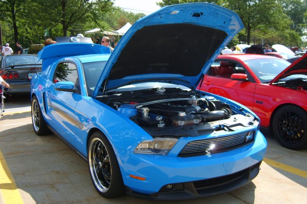 Blue 2011 Ford Mustang GT