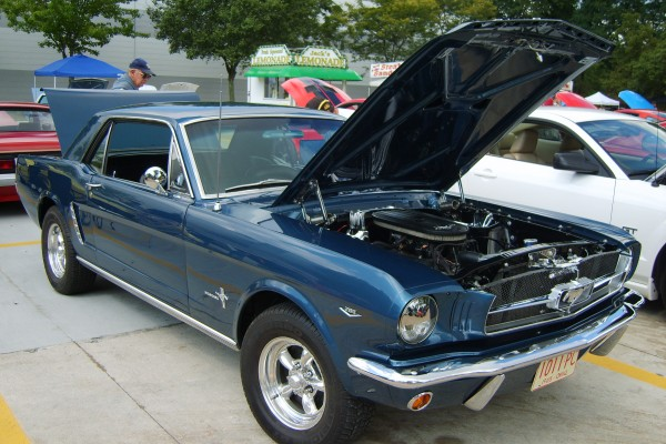 Blue 1965 Ford Mustang