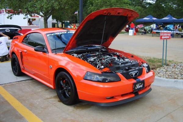 Orange 2004 Ford Mustang GT