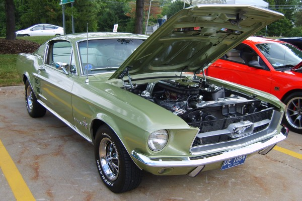 Green 1967 Ford Mustang fastback
