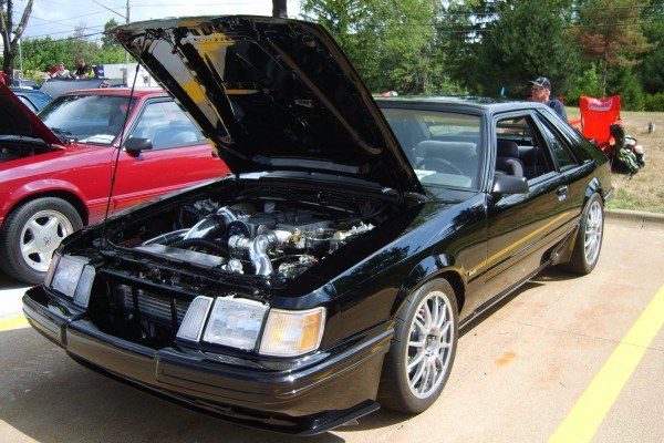 Black Ford Mustang SVO