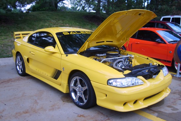 Yellow 1994 Ford Mustang Saleen