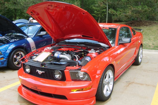 Orange 2006 Ford Mustang Steeda