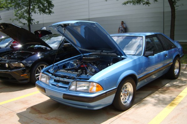 Blue Ford Mustang Fox body