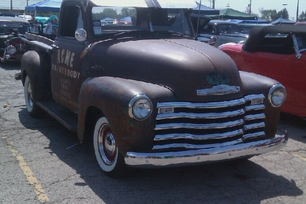 Vintage Patina pickup truck