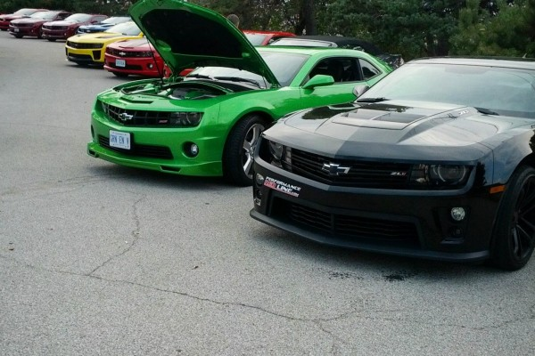 Camaro5 Fest, Green and Black Camaros