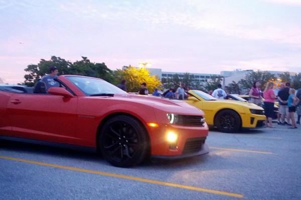 Camaro5 Fest, Red and Yellow Camaros