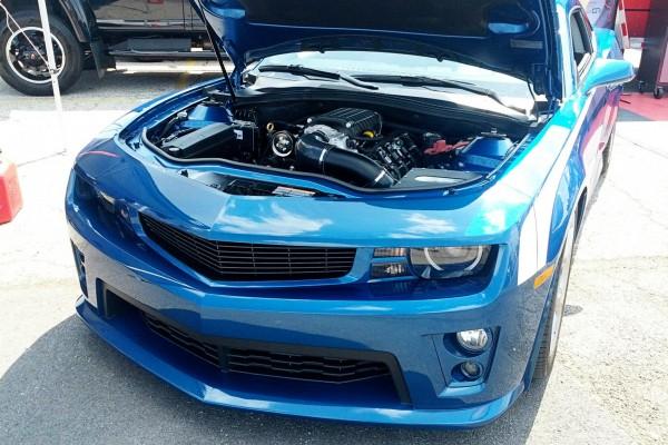 Camaro5 Fest, Blue Camaro Engine Shot