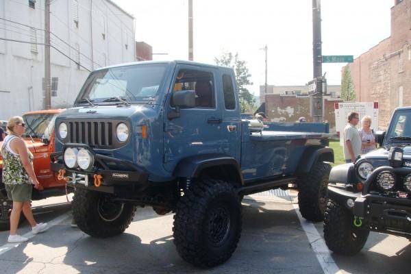 Vintage blue Jeep truck