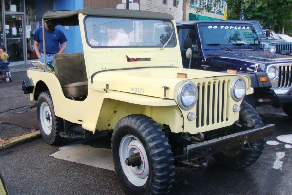 Yellow Willys Jeep