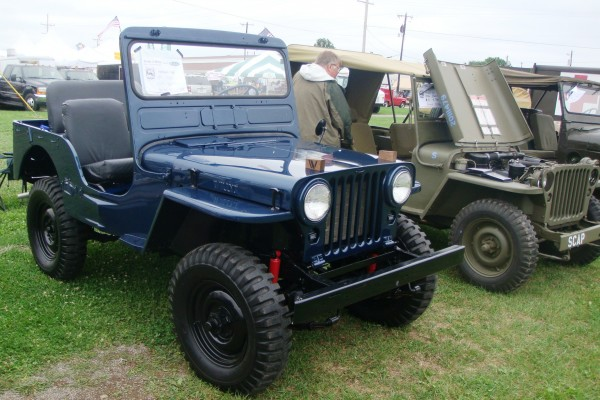Classic blue Willys Jeep