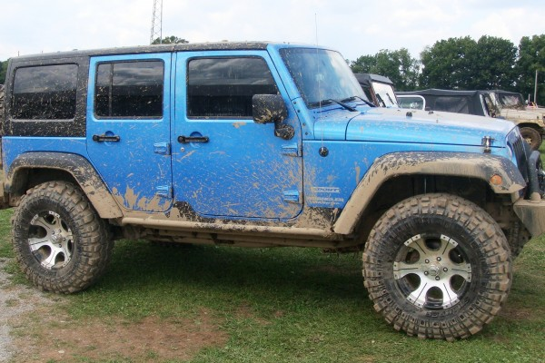 Blue Jeep Wrangler Unlimited