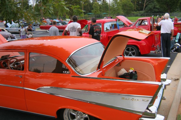 Orange 1957 Chevy Bel Air
