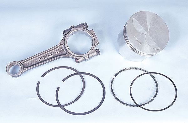 Mopar Performance connecting rods, pistons, and piston rings