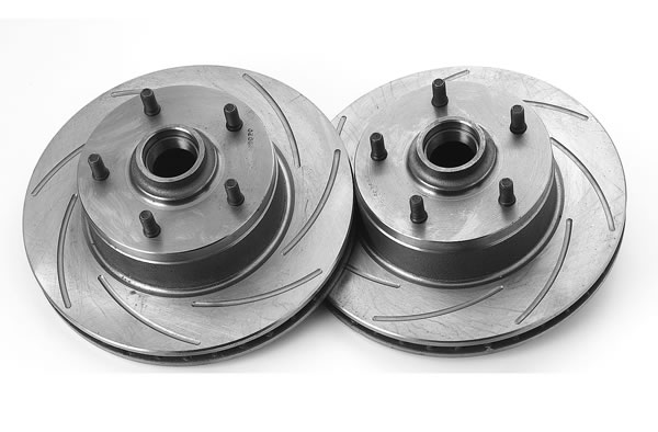 Summit Racing Disc Brake Conversion Kit, Slotted Rotors