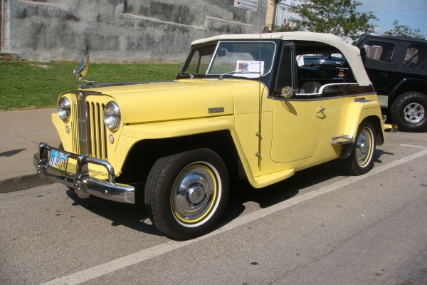 Classic yellow Jeepster