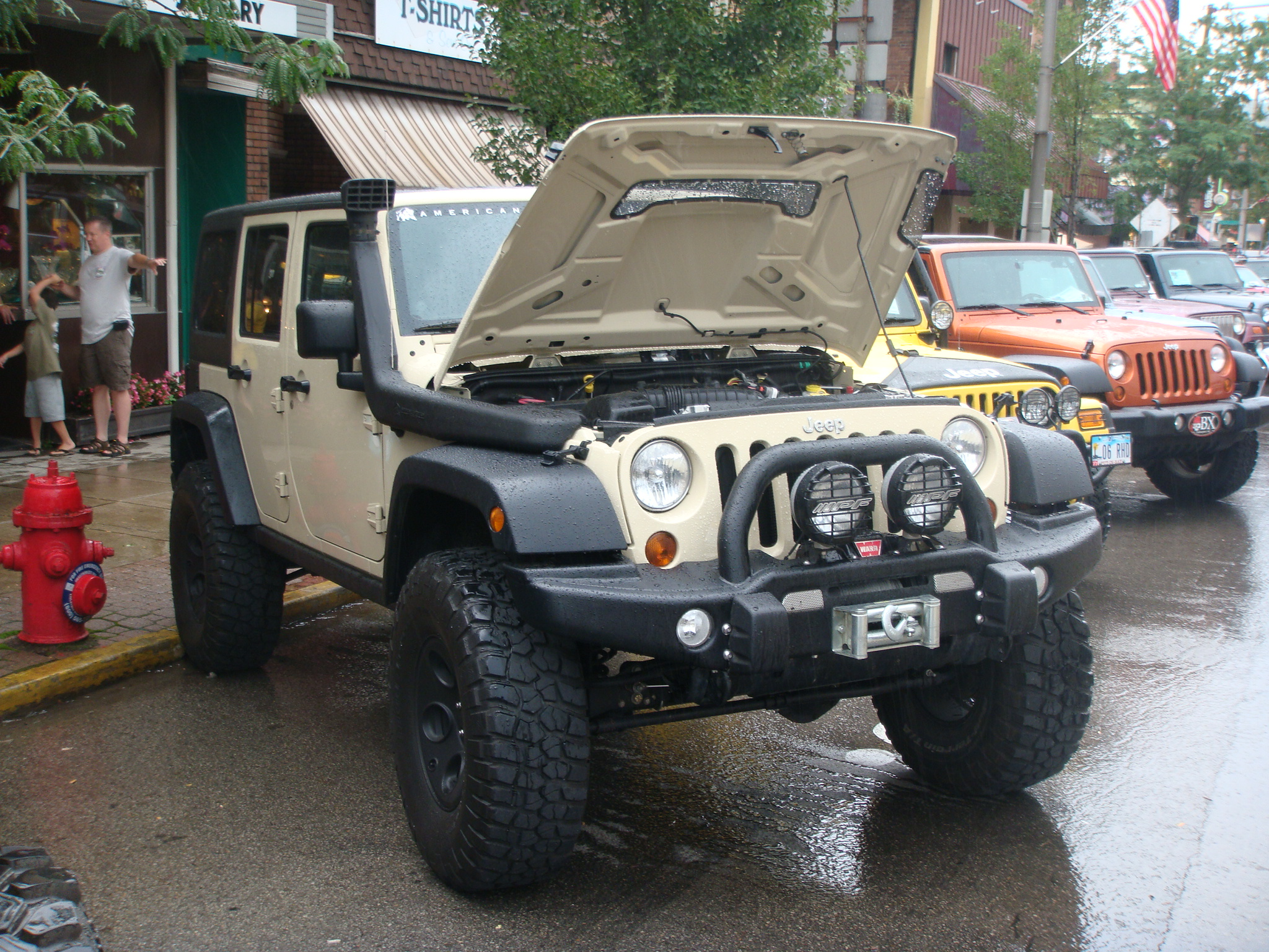 Jeep Wrangler Unlimited with snorkel