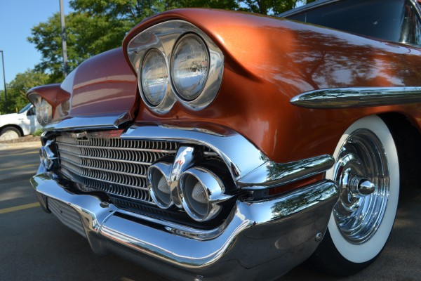 1958 Chevy Nomad, front close up