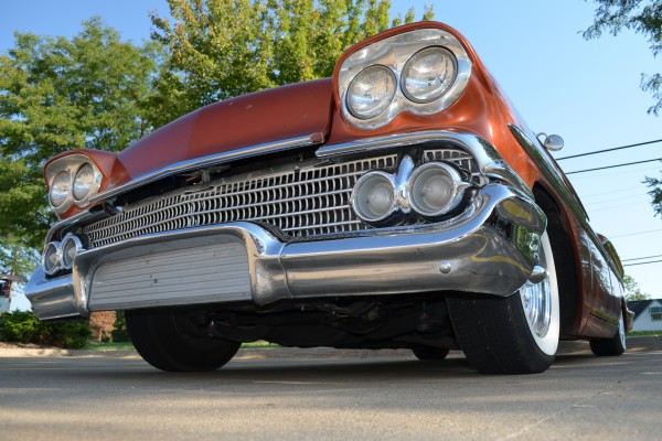 1958 Chevy Nomad, front low angle