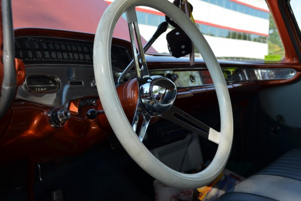 1958 Chevy Nomad, steering wheel