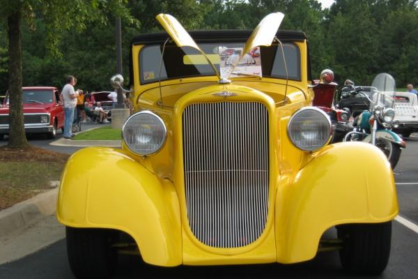 Yellow Dodge hot rod