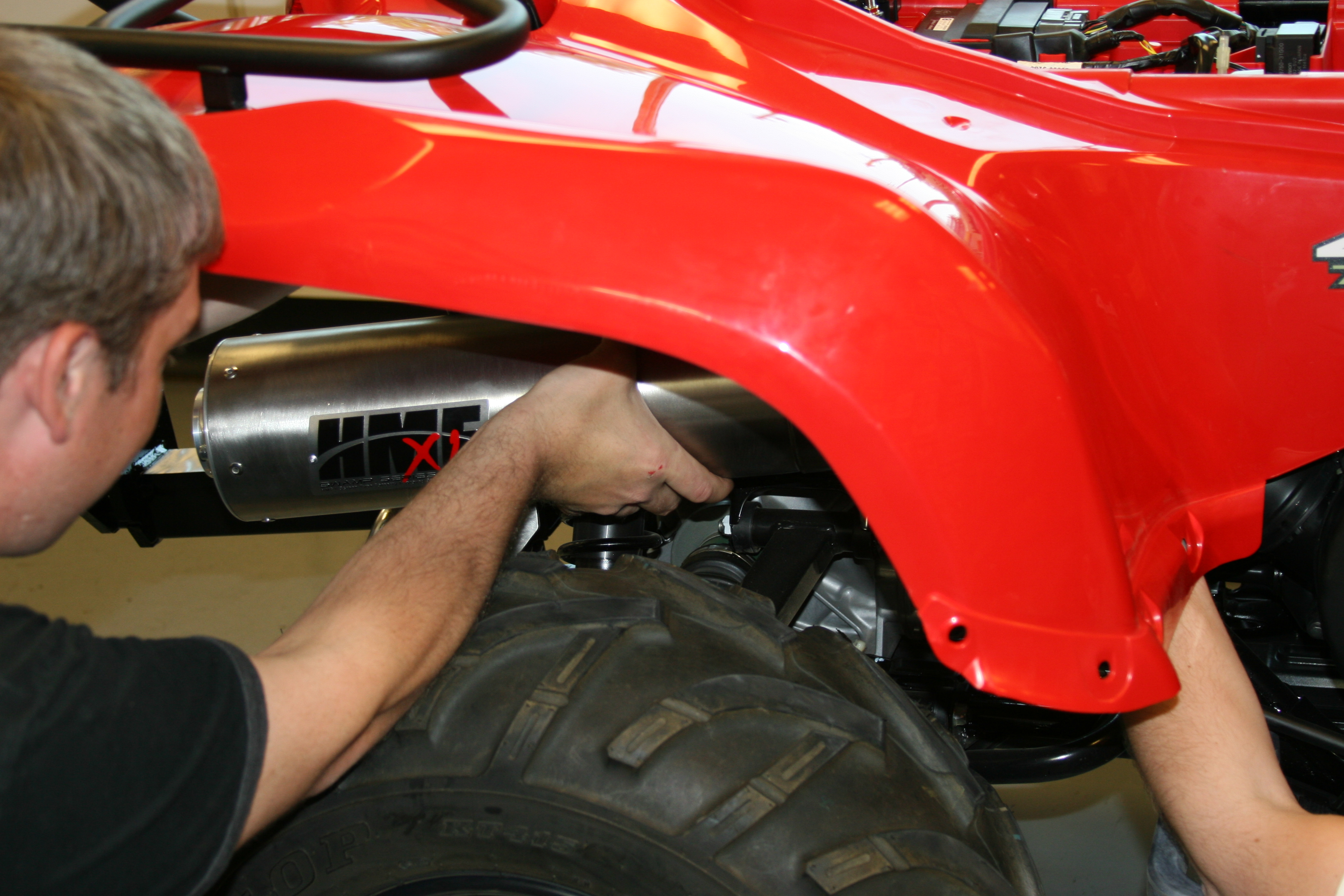 ATV exhaust installation