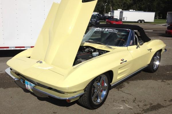 Yellow C-2 Corvette with LS engine