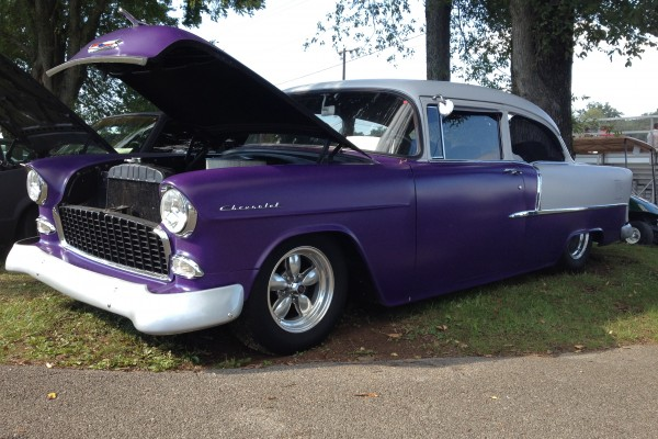 Purple Chevy Bel Air with LS engine