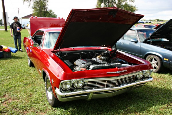 Red Chevy Impala with LS engine