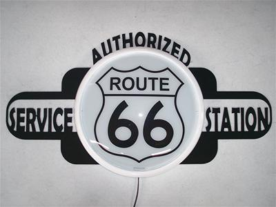 Route 66 Lighted Wall Sign