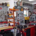 Automotive tools in garage