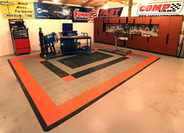 flooring hop-up: installing race deck floor tile - onallcylinders