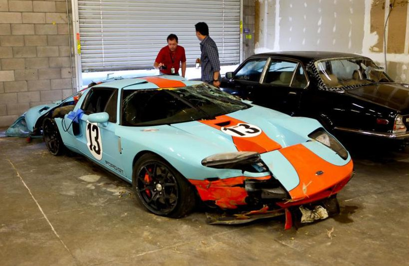 Wrecked Ford Gt