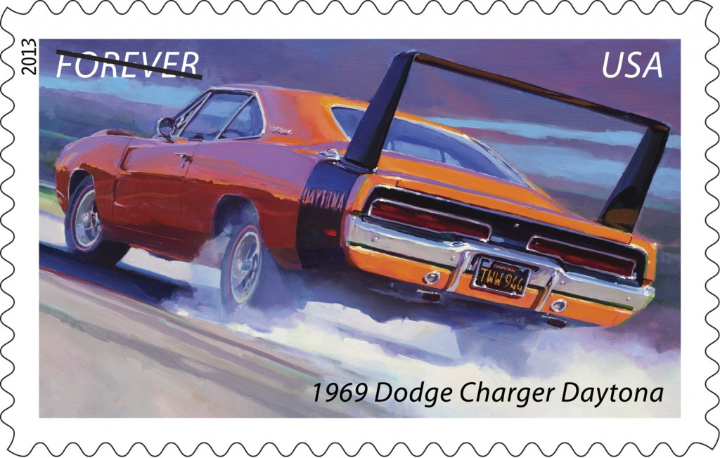 U S Postal Service Introduces Muscle Cars Forever Stamps Onallcylinders