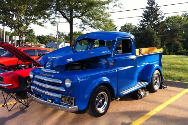 1950 blue custom Dodge pickup truck