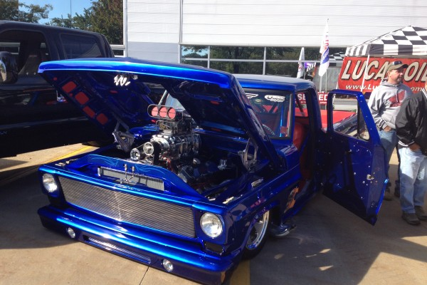 Blown Chevy pickup truck